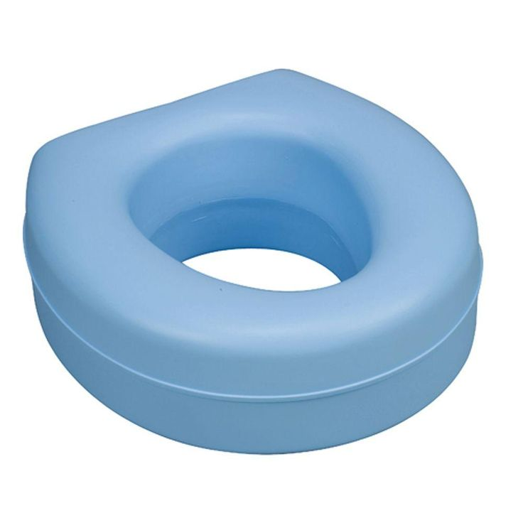 Raised Toilet Seat In Blue 522 1508 0100 In 2020 Blue Toilet