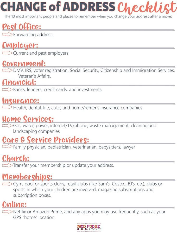 Change Of Address Checklist For An Easy Move Moving House Tips Change Of Address Moving House Checklist