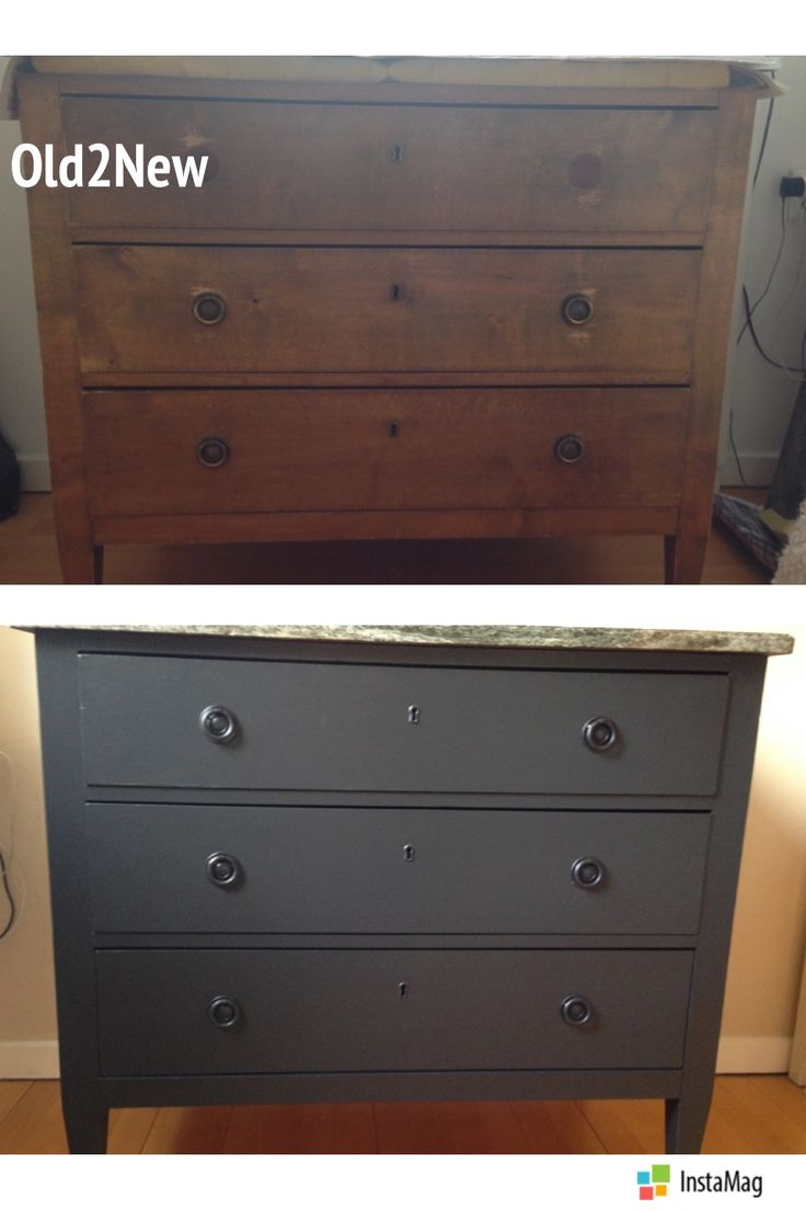 Old chest gets update with dark slate grey