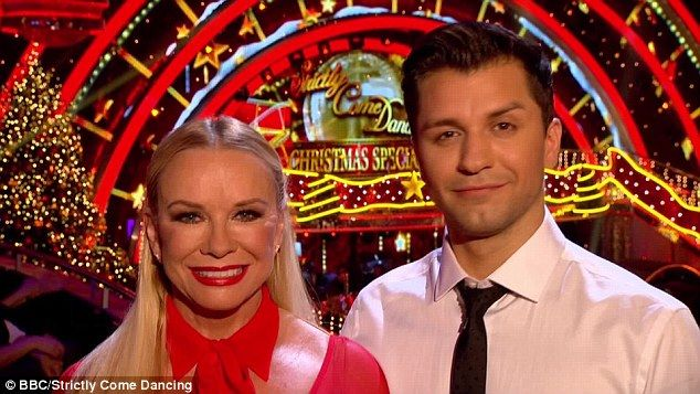Double trouble: Pamela Stephenson, who got to the final of Strictly in 2010, was up next and pared with Pasha Kovalev