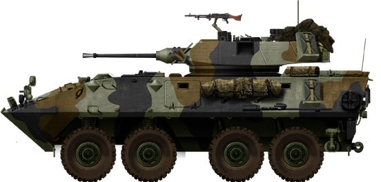 USMC LAV-25 (1983). Joint US-Canadian vehicle based on the Piranha II.