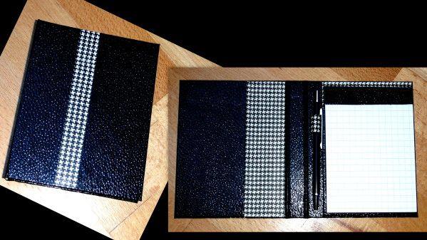 mes cartonnages / porte carnet noir