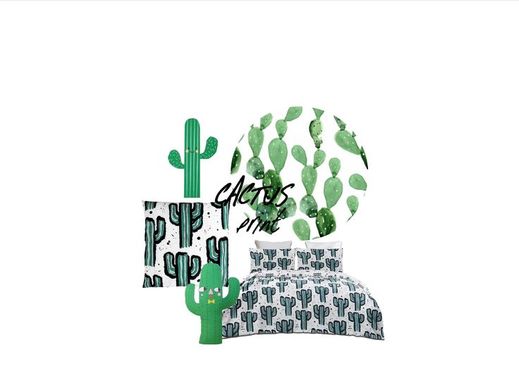 Cactus Print Inspiration board, Styling by Little Nook Interiors