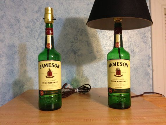 Jameson Liquor Bottle Lamp   Great for Man by CovertMeiborations