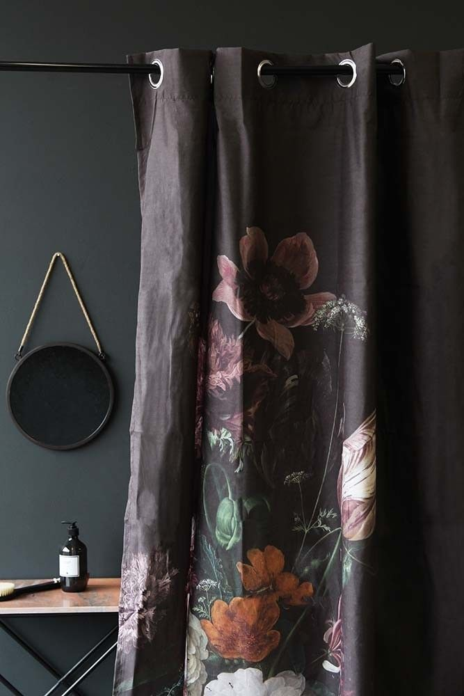 Black Floral Shower Curtain From Rockett St George Floral Shower