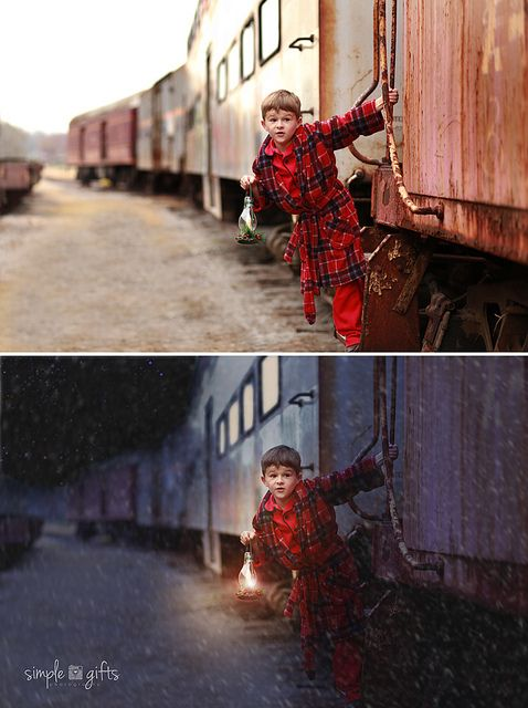 Before/After Polar Express by simplegiftsphotography, via Flickr