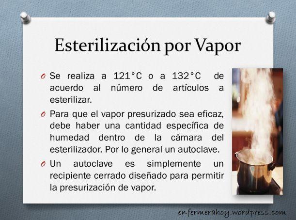Esterilización por vapor