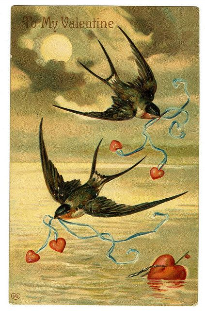All sizes | antique valentine postcard | Flickr - Photo Sharing!  I love this one!
