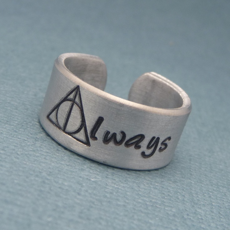 harry potter inspired always a sted aluminum ring