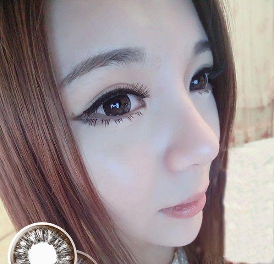 Soft Cosmetic Colored Prescription Contact Lenses Elegant Nymph (Chocolates)