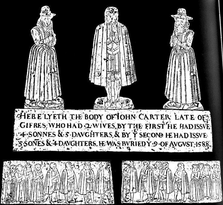 "https://flic.kr/p/GUXyH8 | Un-named - Kings Langley Hertfordshire | ""Here lyeth the body of John Carter, late of Gifres, who had 2 wives, by the first he  had issue 4 sonnes & 5 daughters & by ye second he had issue 5 sones & 4 daughters.  He was buried ye 9 of August 1588"" John lived at Jeffries Farm, Chipperfield, Kings Langley Herts freespace.virgin.net/youkay.devil/history.htm (Possibly an ancestor of President Jimmy Carter of USA) Children 1. (?)  Francis 1630 who bequ"