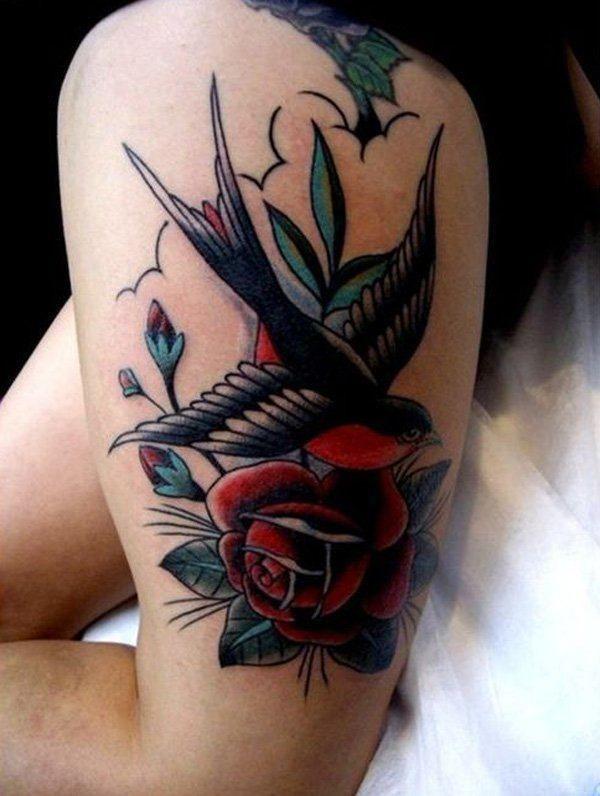 Tatuajes de golondrinas Descubre las mejores imagenes de tatuajes de golondrinas…