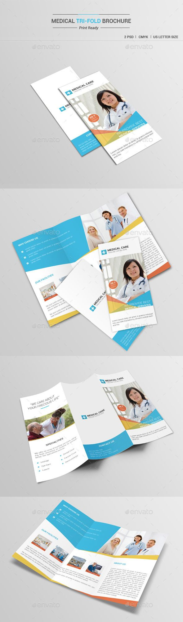 Medical Tri-Fold Brochure Template #printdesign #brochure Download: http://graphicriver.net/item/medical-trifold-brochure-v1/12064721?ref=ksioks