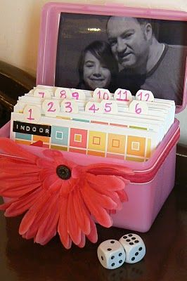 Set up a date night idea box for special one-on-one time with your child