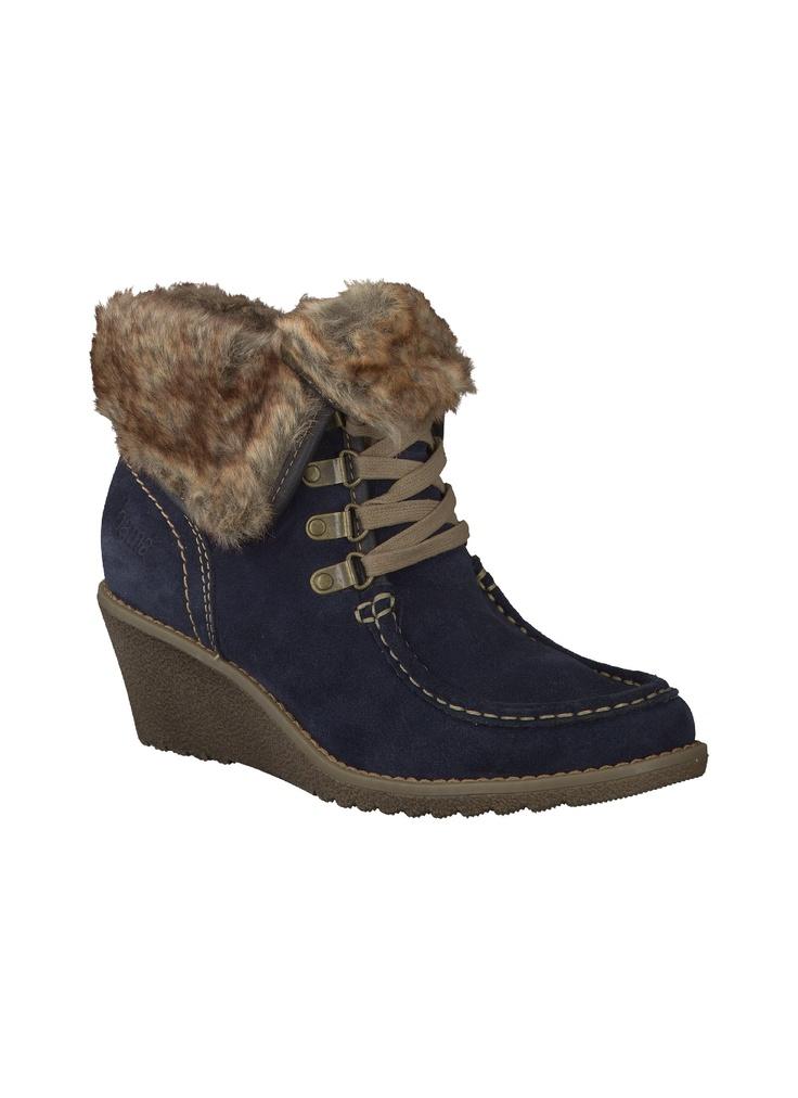 Reno - Bama - Ankle Boot, Dunkelblau - Stiefeletten - Damen - Schuhe - Reno Online-Shop für Marken-Schuhe