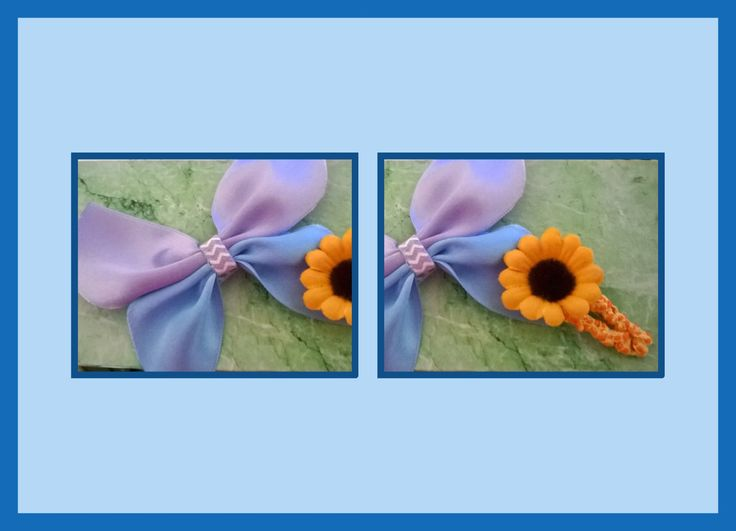 Butterfly and sunflower hair clips