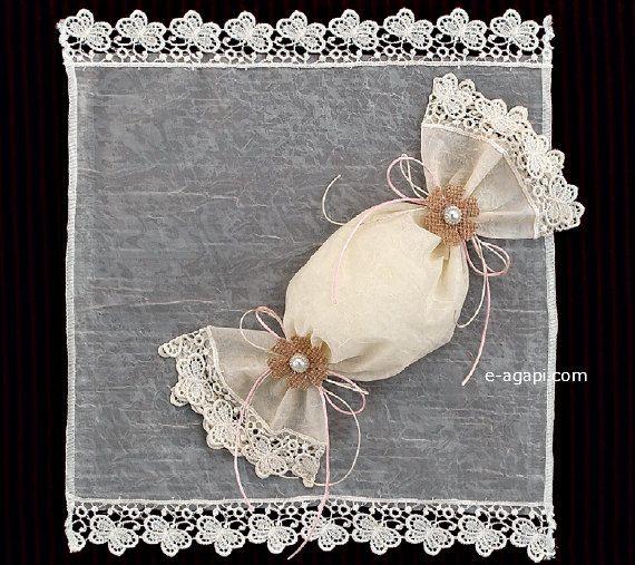 Karamela lace burlap favors Wedding bombonieres Christening favors Baptism bombonieres Greek handmade guests gift Ivory White favors 10 pc by eAGAPIcom on Etsy