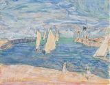 LES VOILIERS PRÈS DE LA JETÉE - Pierre Bonnard