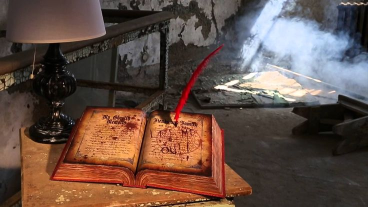 Spirit Halloween's exclusive Ghost Writing Book has an ominous message as it mysteriously scrolls over the pages.