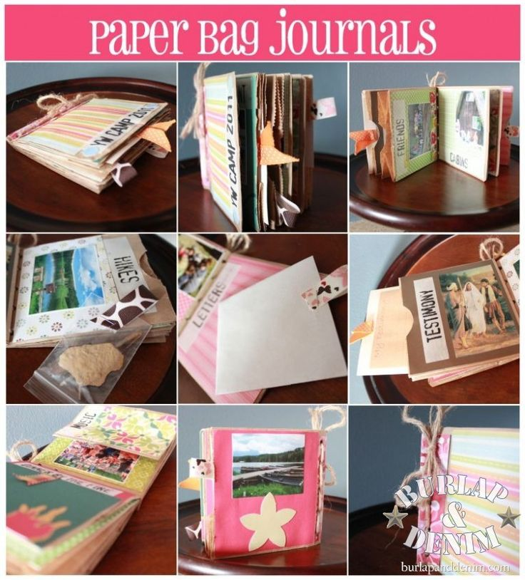 Paper bag journals are a fun inexpensive craft perfect for trips, camps, or fun summer memories.  My family made these at our summer family reunion in Laguna last year (filled with beachy words, photos from the Hollywood sign, and souvenirs from