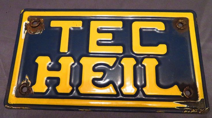 1950'S porcelain sign TEC HEIL trucking - vintage, antique advertising  | eBay