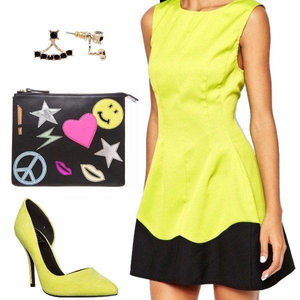 Eleganti... sempre, ma ogni tanto coloratissime, un azzardo di giallo fluo, dall'abito alle scarpe.... ed una pazza clutch che richiama le tonalità di questo eccentrico look bon ton... e anche qualcosa di più. Spiritosamente eleganti!