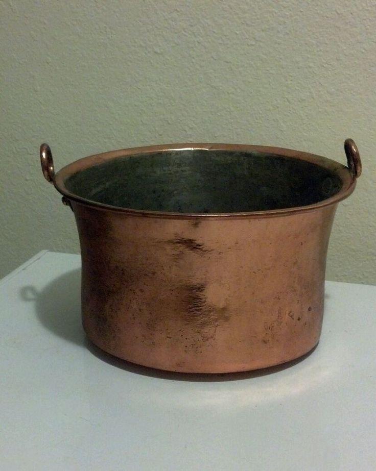 antique dovetailed copper pot 11 beautiful naiveprimitive brass and copper pots molds. Black Bedroom Furniture Sets. Home Design Ideas