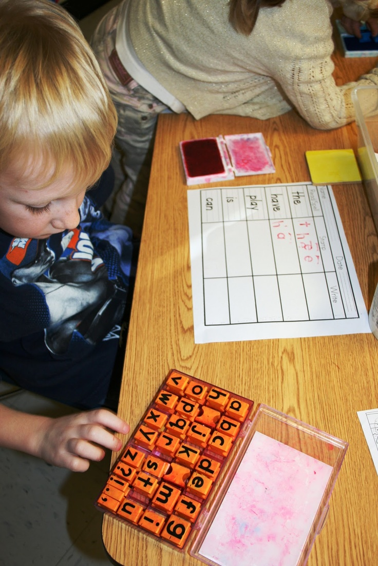 High frequency word stamping. MUST TRY NEXT YEAR