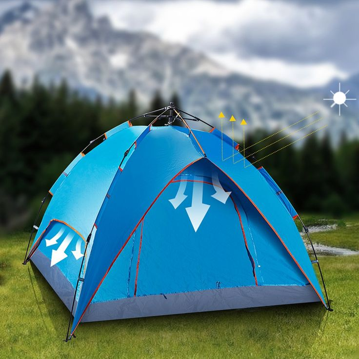 camping beach tent no tax 2-5 days to EU blue 3-4 person automatic oxford 240*210*140cm double layer doors combined spring ** Find out more details @ http://performance.affiliaxe.com/aff_c?offer_id=11422&aff_id=86258&source=http://www.aliexpress.com/item/blue-3-4-person-automatic-tent-EU-stock-210D-oxford-240-210-140cm-Straight-double-double/32687828255.html&alv=160716041938