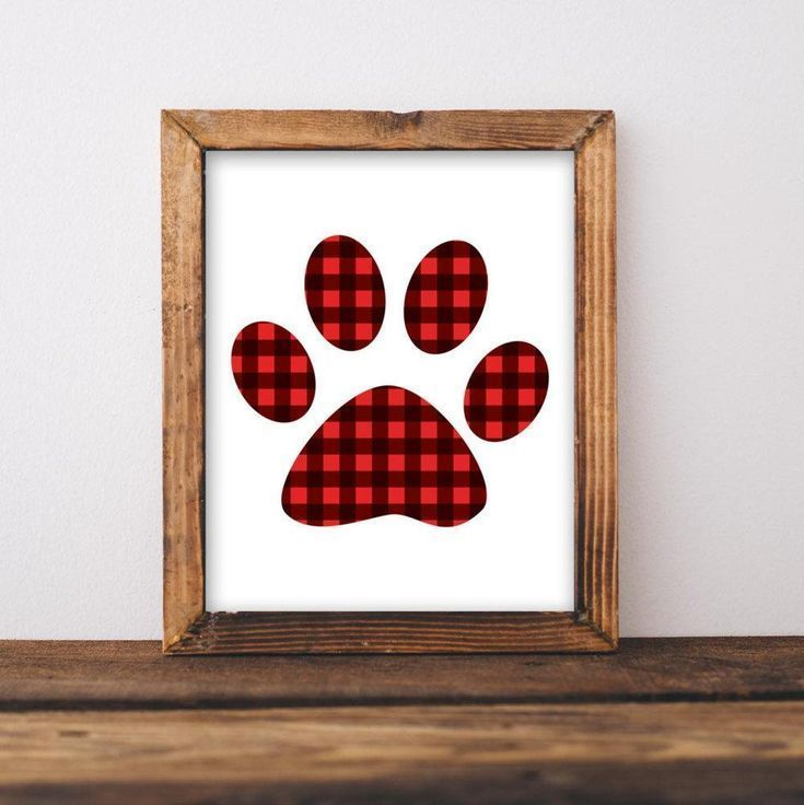 f180d41f Paw Print - Printable | Christmas DIY | Rustic christmas, Plaid ...