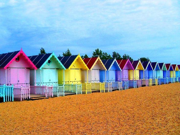 beach huts - west mersea UK