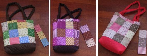 Soft big pseudo patchwork with sintepon botton hand made by Vvesna,