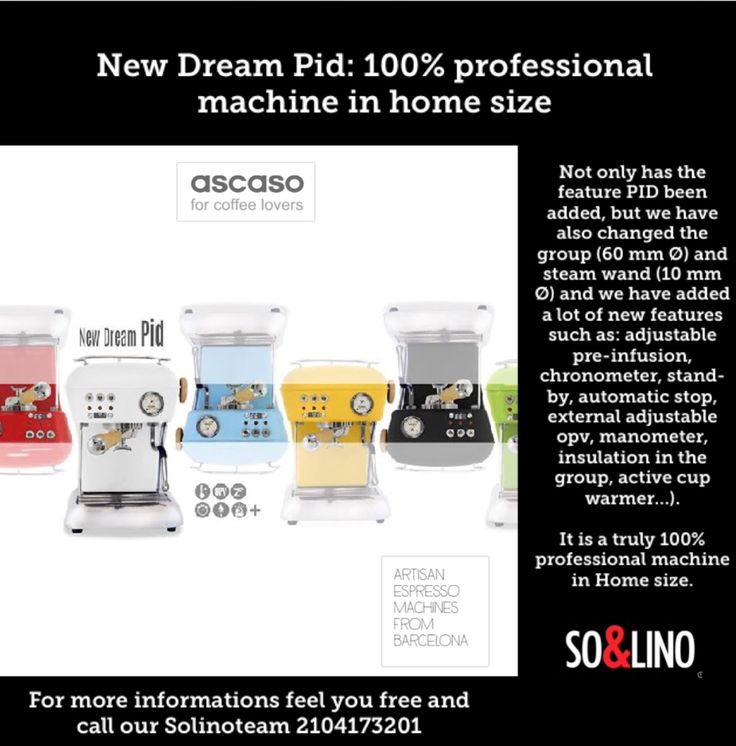 Solino - The Official Ascaso Partner in Greece Read More: http://www.solino.gr/ascaso/mhxanes-espresso.html