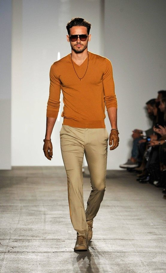 293 best images about my idea of stylish and funky men 39 s for Beige pants what color shirt