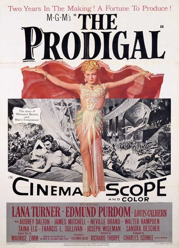 The Prodigal - 1955 poster
