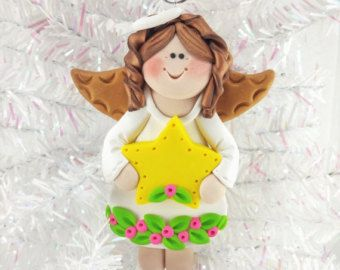 Baby Shower Favor  Personalized Angel Christmas Ornament