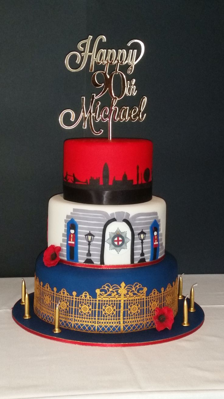Coldstream guard 90th birthday cake