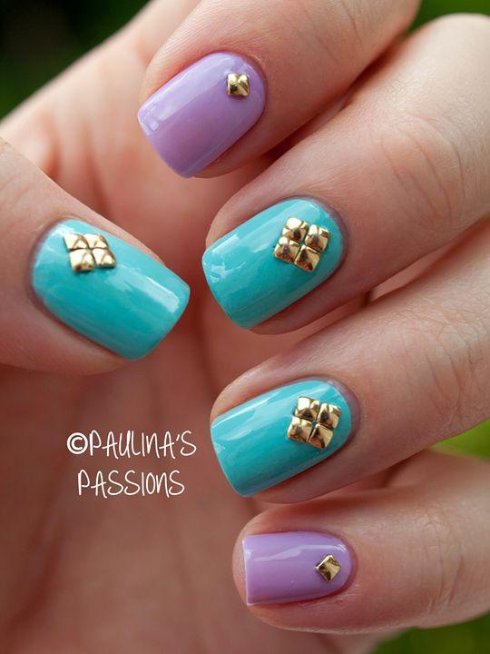 @Paulina P Data  Studded  #nail #nails #nailart