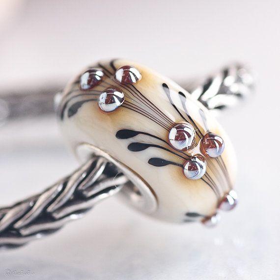 glassbonbon fern sra lampwork bead fits all kinds of european charm