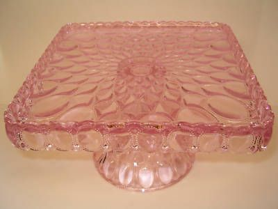 Clear Depression Glass Cake Plates | ... Footed Cake Plate Platter Clear Depression Glass Cake on Pinterest Ooooh I really love this!