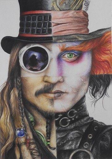 Johnny Depp Fan Art – #artDrawingsbeautiful #artDrawingsdark #artDrawingslove #a …