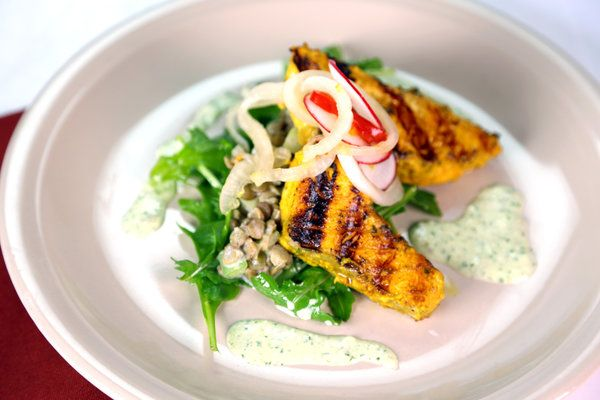 Tandoori Salmon Salad by Wolfgang Puck