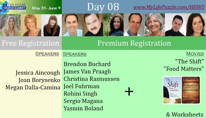 Enroll your name for #Hay #House #World #Summit 2014, the largest #online #event about #motivation at http://mylifepuzzle.com/hay-house-world-summit/  We have various renowned speakers for each day you can check the schedule of speakers  Register online for #Premium subscription get two #motivational #movies free  1. #The #Shift 2. #Food #Matters