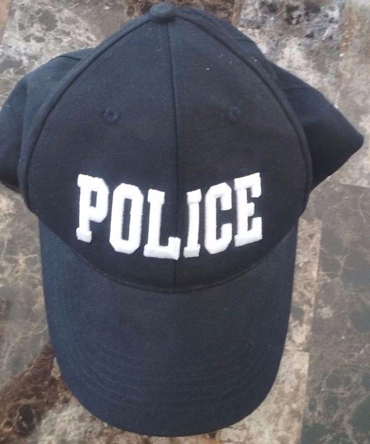 Police Costume Baseball Hat Black White One Size Premier #Premier