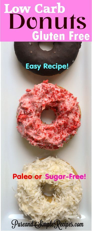 Donuts - Low Carb - Gluten Free - Paleo - Baked - Super Easy Recipe