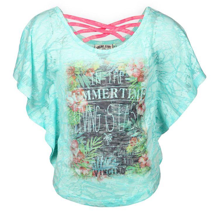 Vingino Kinderkleding Online Leuk Meisjes Shirt Idylle Soft Neon Aqua