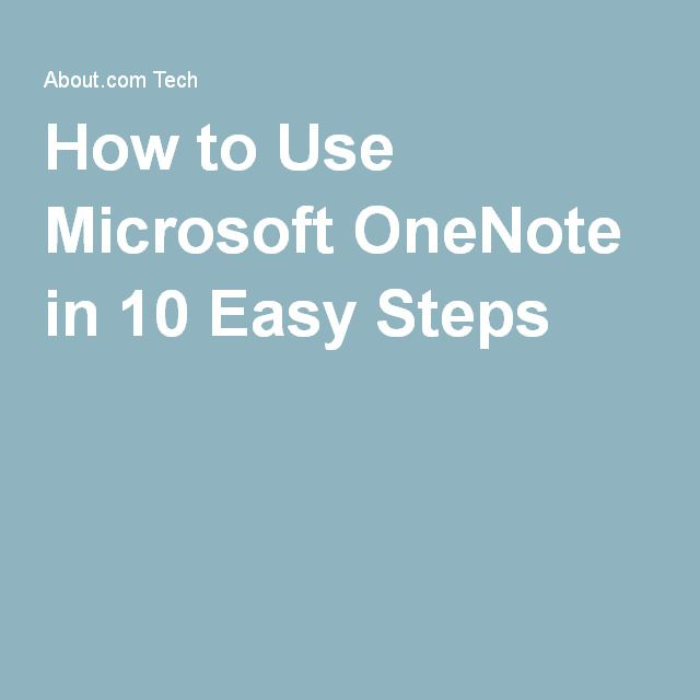How to Use Microsoft OneNote in 10 Easy Steps [mcg 4.6.16]