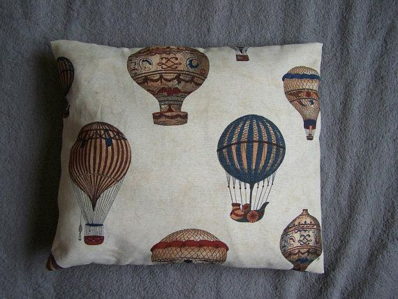Pillow cover balloon hot air balloon cotton by Beecreativebox