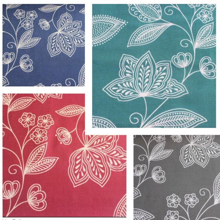 Floral Love in Indigo, Red, Slate Grey and Sea Blue Aqua. Contemporary floral design in 4 color options for your  dens. Only on Fabricmart! Shop Now..