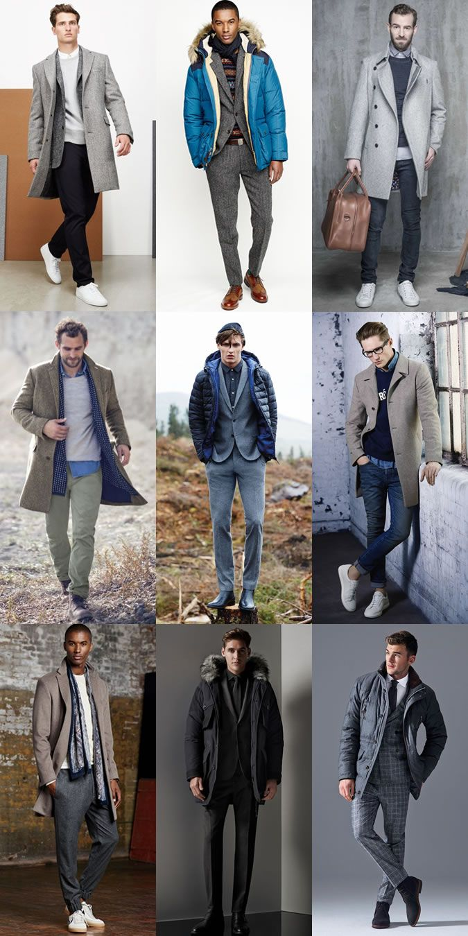 Men's Puffa/Parka Jackets With Suits and Overcoats With casual Wear Outfit Inspiration Lookbook